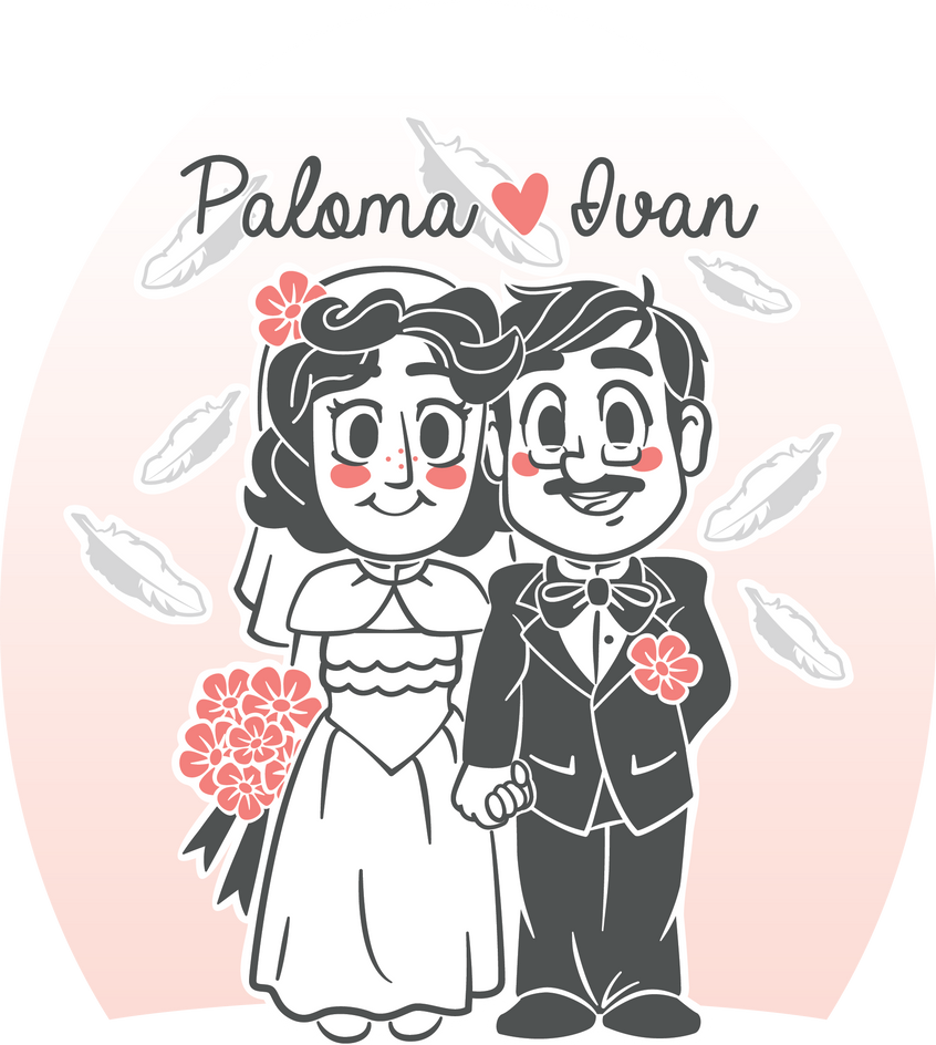 Wedding Caricature by zarry
