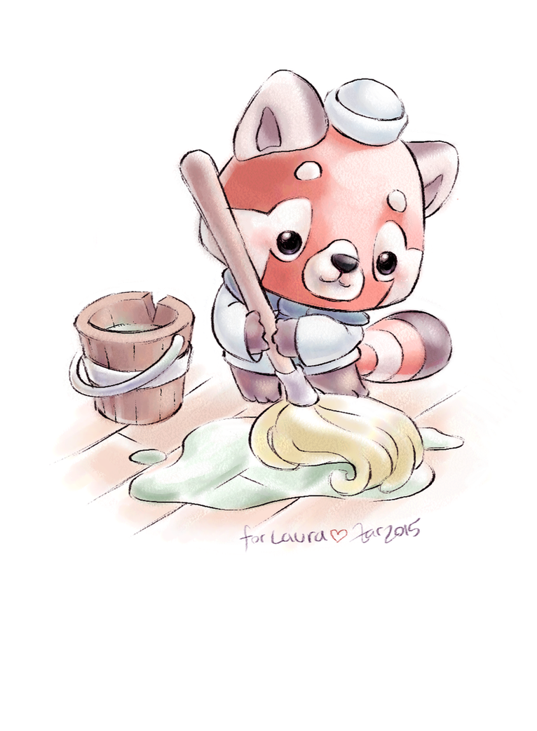 Red Panda Swabby by zarry