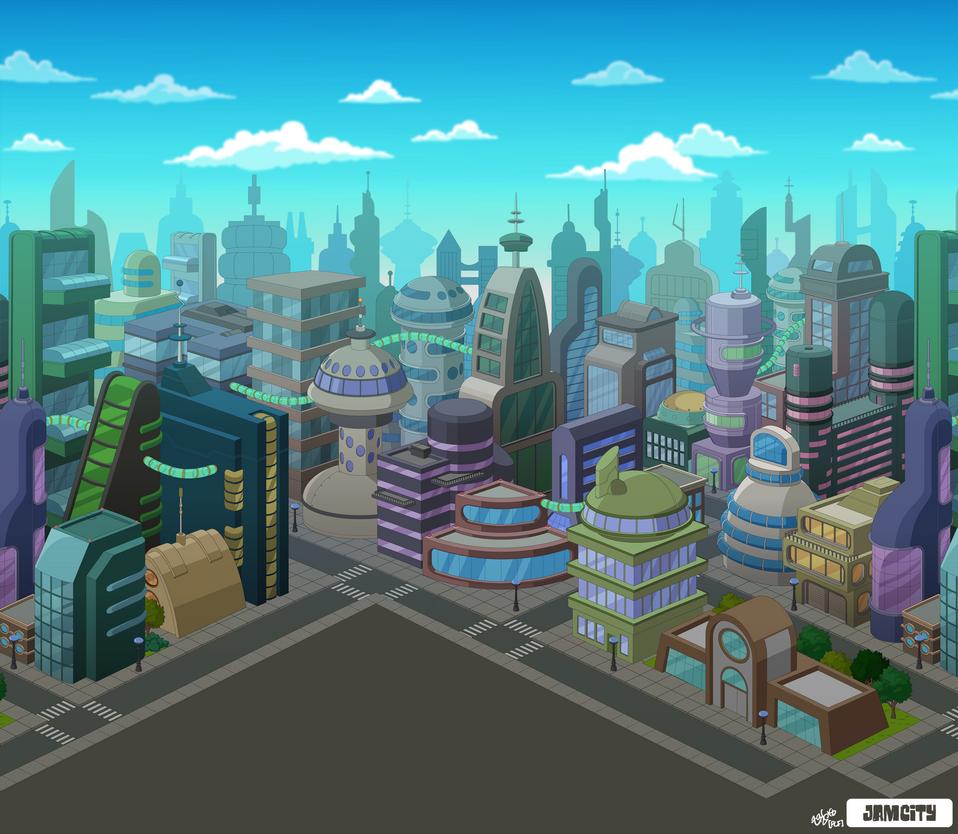 Futurama New New York Skyline by zarry