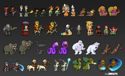 Futurama Pixel Characters