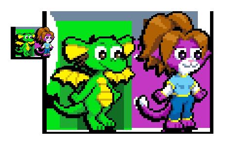 Pixel Allu n' Dawny by zarry