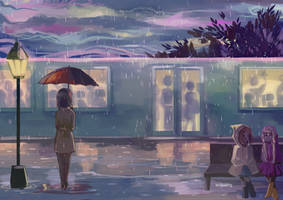 Rainy Commute by Eclipsing