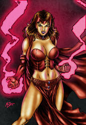 Scarlet Witch colors by brimstoneman34