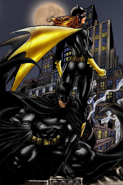 Batman and Batgirl colors by brimstoneman34 on DeviantArt