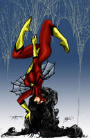 spider woman colors by brimstoneman34
