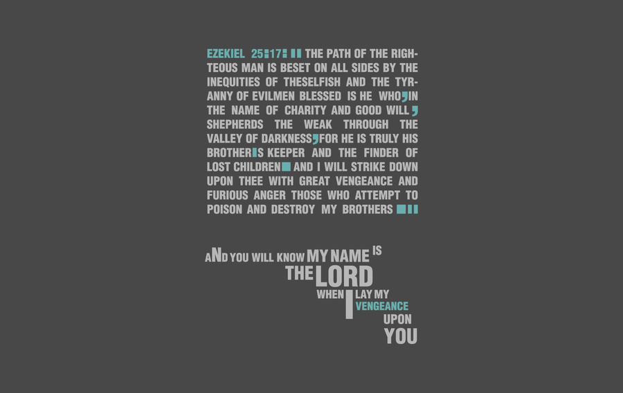 Pulp Fiction Bible Quote Wall By Kaijuking623 ...
