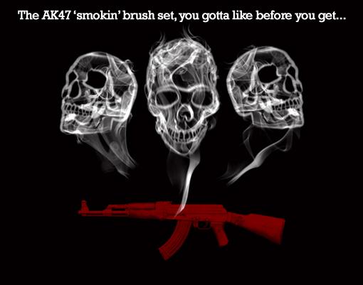 AK 47 Smokin Brush Set by DS10Portfolio