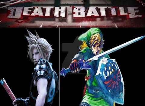 Death-Battle Cloud VS Link fanart