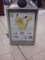 Pikachu Bin Ad from Doncaster Frenchgate