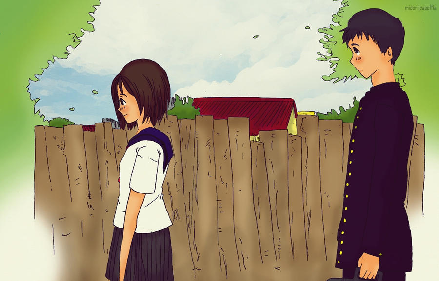 Walk to school by Midori2501Aikou