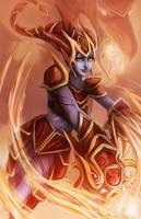 League of legends: Shyvana's flame by Ka-ho