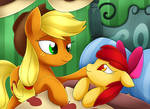 Apple Bloom and Applejack