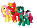 Fluttershy, Big Mac, and Fizzy ( Commission )