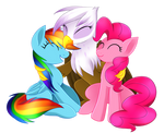 Rainbow, Pinkie and Gilda