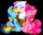 Rainbow, Pinkie and Gilda