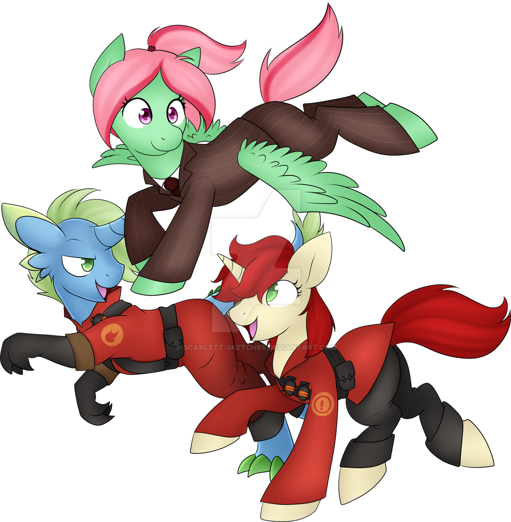 Bonfire, Velvet, and Melon Shine ( Commission )