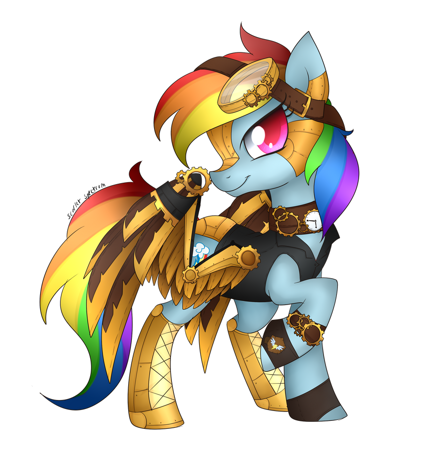 Pony art of the non diabetic variety.  - Page 26 Steampunk_rainbow_dash_by_scarlet_spectrum-d9yjc6p