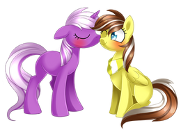 Graphica and Deezy [Commission] by Scarlet-Spectrum