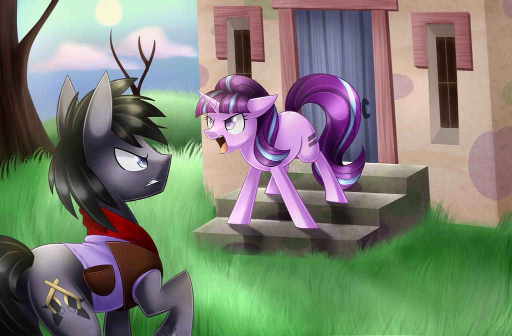 Peacemaker and Starlight [Commission] + Speedpaint by Scarlet-Spectrum