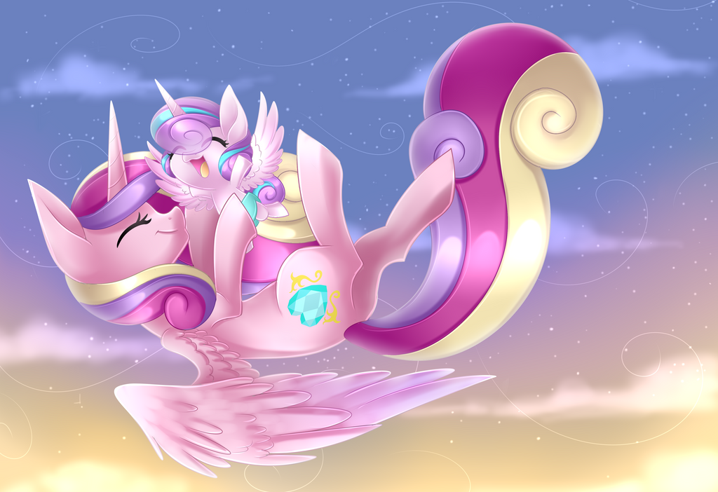Cadence and Flurry Heart + Speedpaint