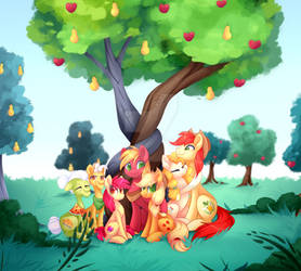 Apple Family Portrait | Commission