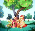 Apple Family Portrait | Commission