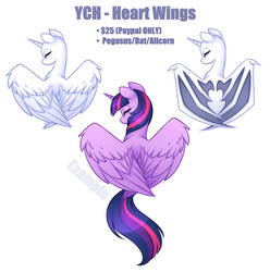 YCH - Heart Wings [CLOSED] by Scarlet-Spectrum