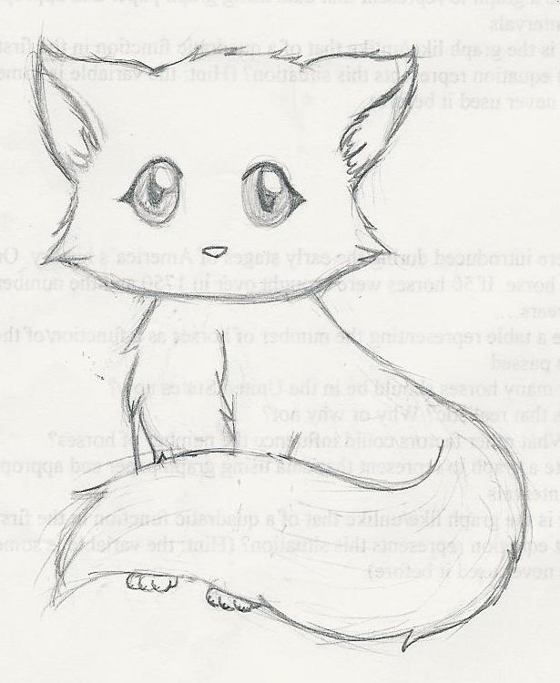 A cute kitten by an1m3ch1ck on deviantart for Easy detailed drawings