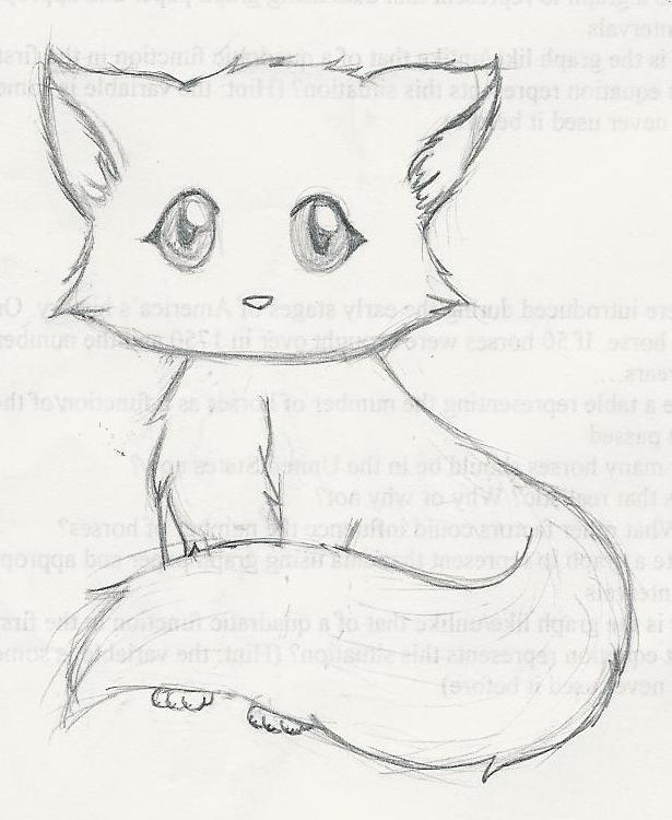 A cute kitten by an1m3ch1ck on deviantart for Fun to draw cat
