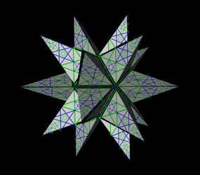 Pythagorean Great Stellated Dodecahedron in Coin3D