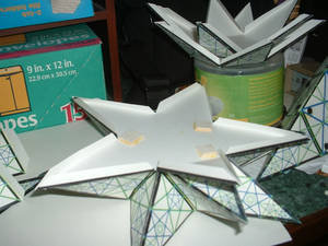 Pythagorean Great Star Dodecahedron Paper Assembly