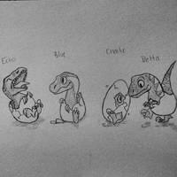 Baby Raptor Squad by wearethewalkingdeadx
