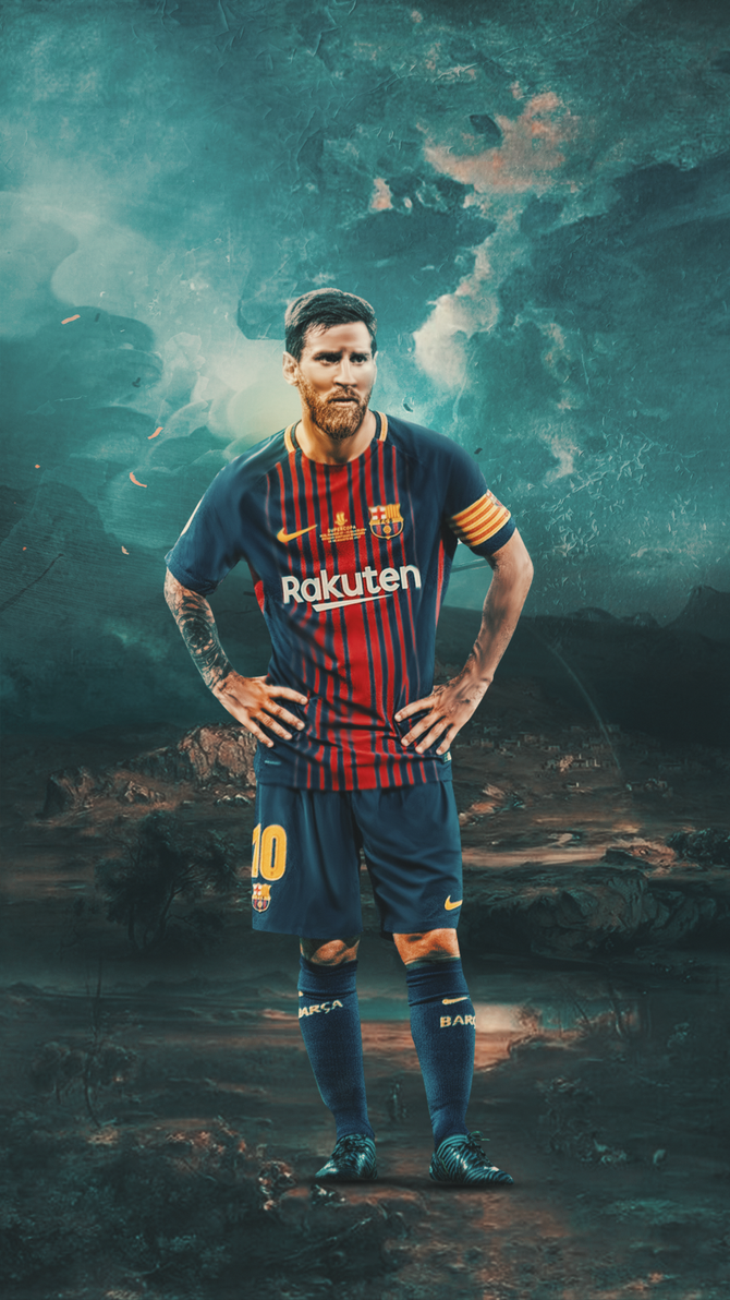 Leo Messi Wallpaper By AZK AFC