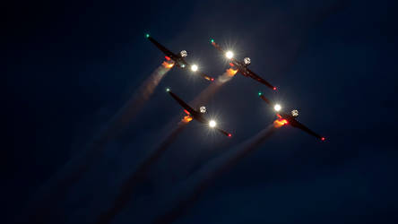 Aeroshell Team Night Display