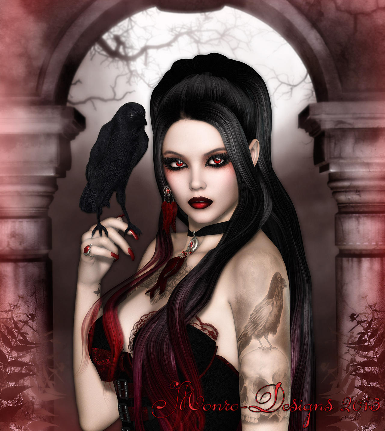 Corvena by monro designs on deviantart for Gothic painting ideas