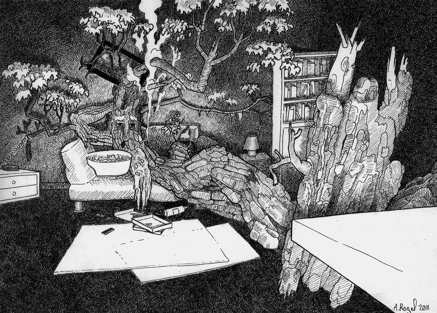 Treebeard watching TV