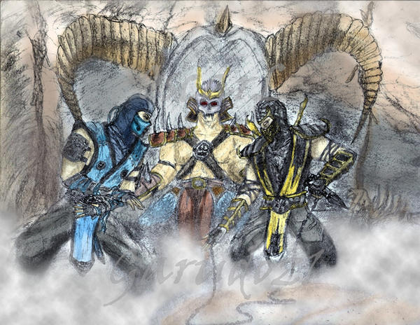Sub zero vs scorpion Mortal kombat (9) draw by garudoz1 on ...