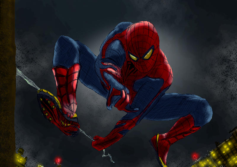 spiderman 2012 draw by garudoz1 by garudoz1 on deviantart