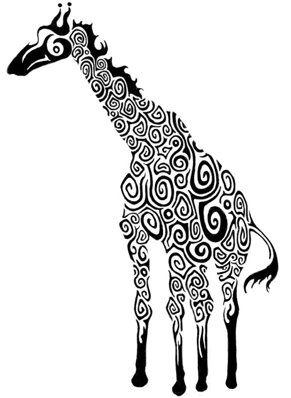 Giraffe tattoo design by JaneExtasy