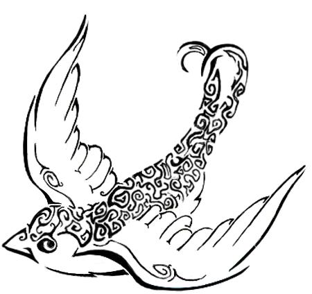 Swallow Tattoo - chest tattoo