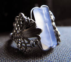 Silver and Chalcedony Ring by CleverLittleThings