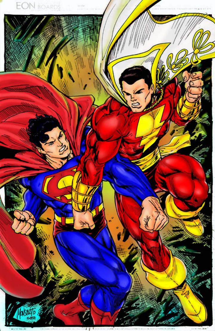 Superman vs captain marvel by nagasane