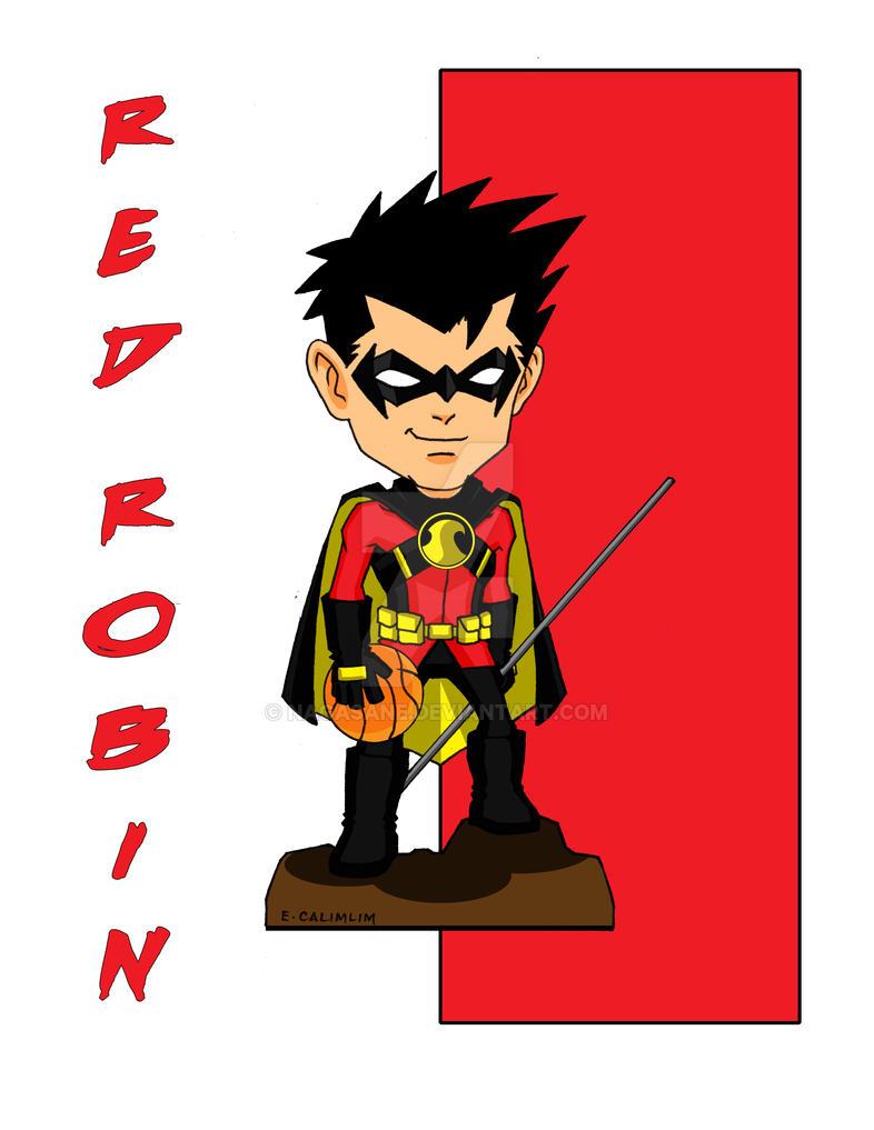 DC Red Robin - Chibi by NaGaSaNe