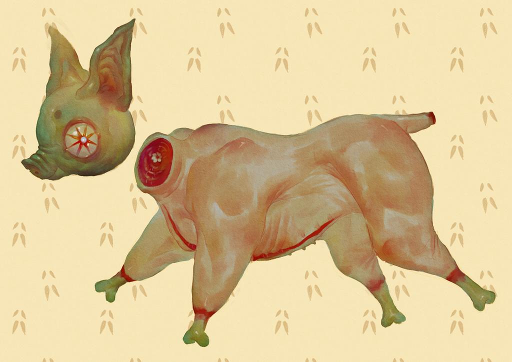 porcine friend by antpizza