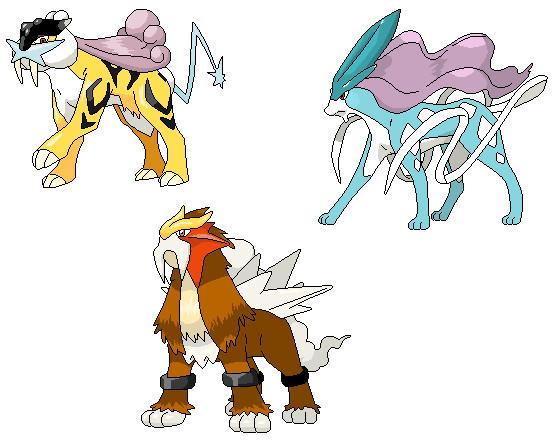 pokemon legendary dogs - 556×446