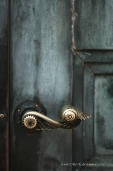 worn doorknob