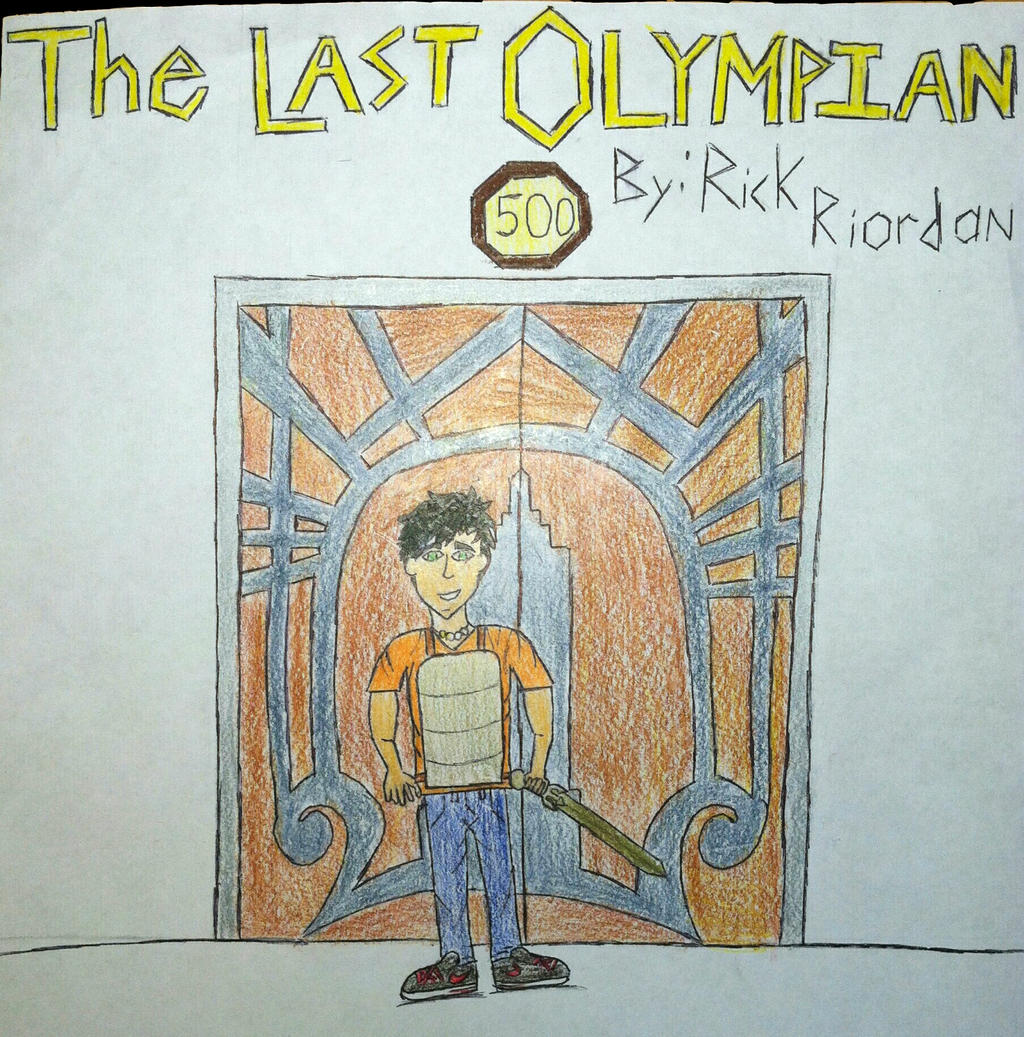 Percy Jackson Book Cover Art : The last olympian book cover by sparklegem on deviantart