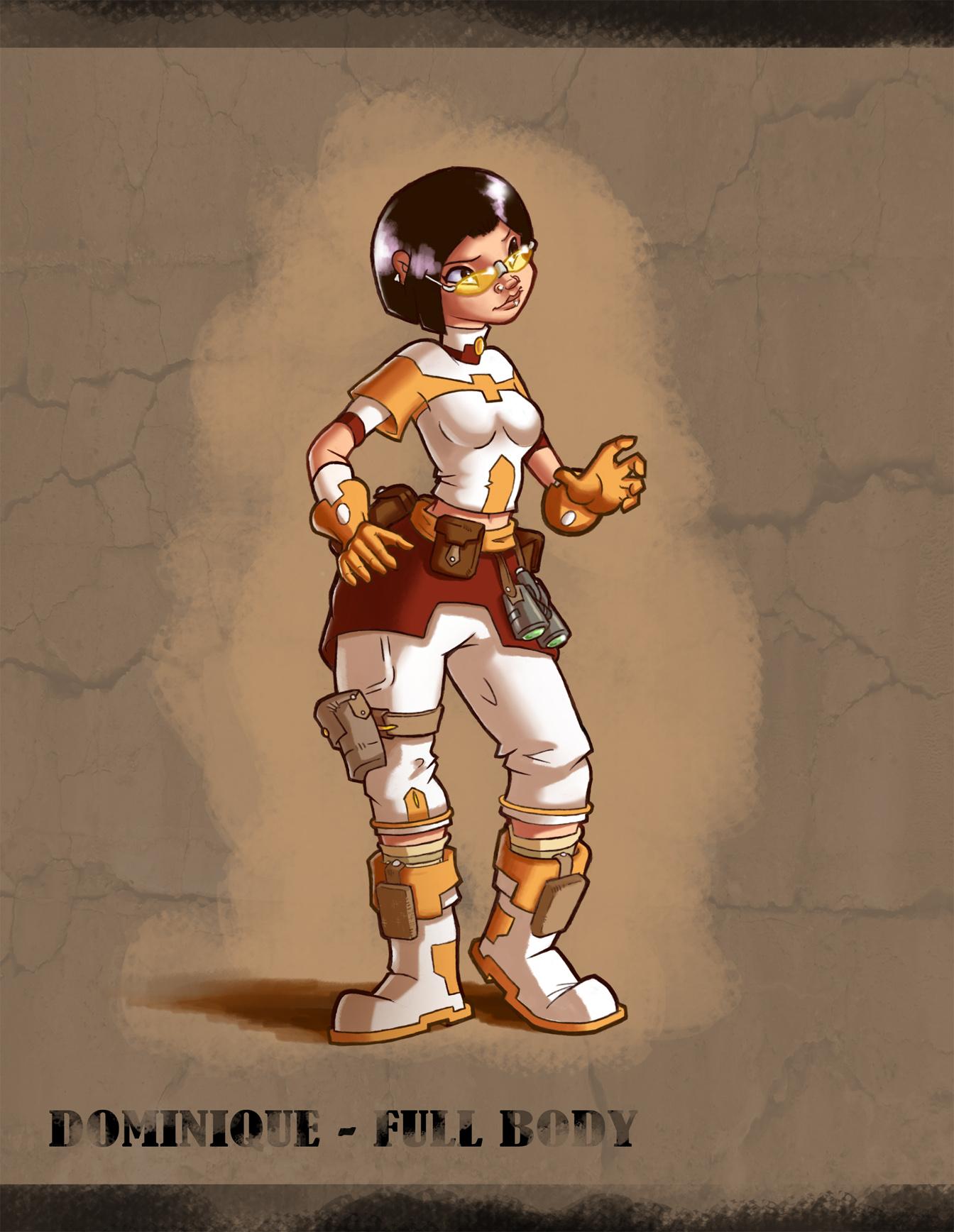 Flight of the Mighty Ironbolt - Web Comic under Development __ironbolt_____dominique_full_body_by_dlsgorm-d4pwchx