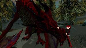 Odahviing and Hiricles Dragon and Dragonnier
