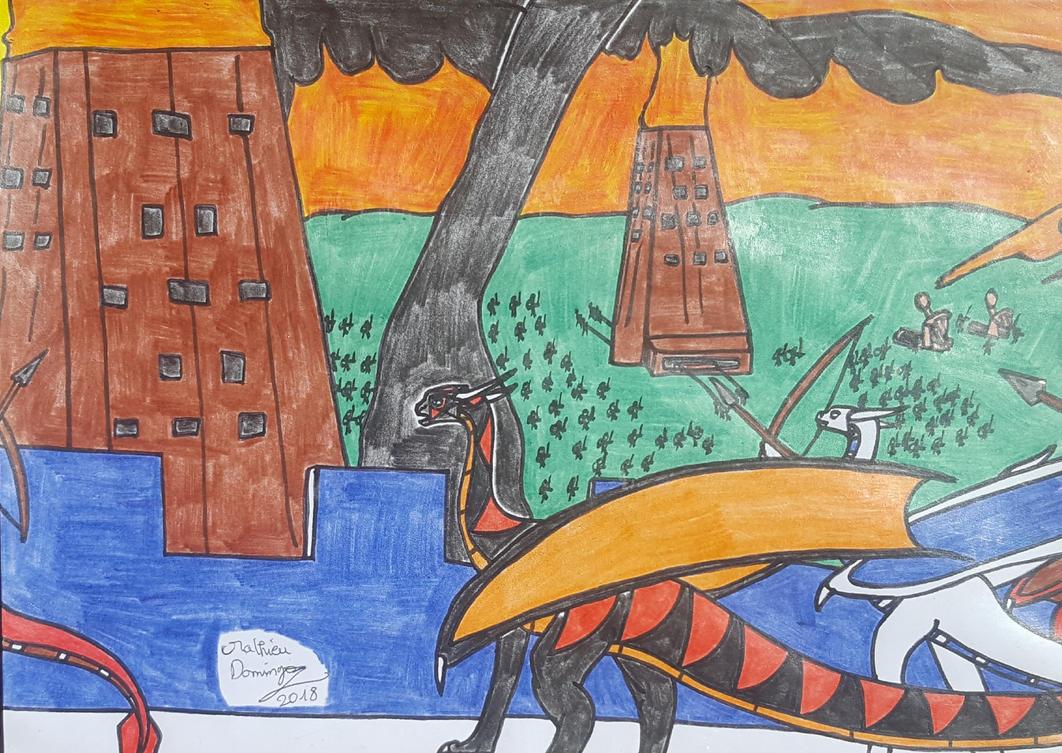 La bataille de Vrandmorg by dragoonbeyblade